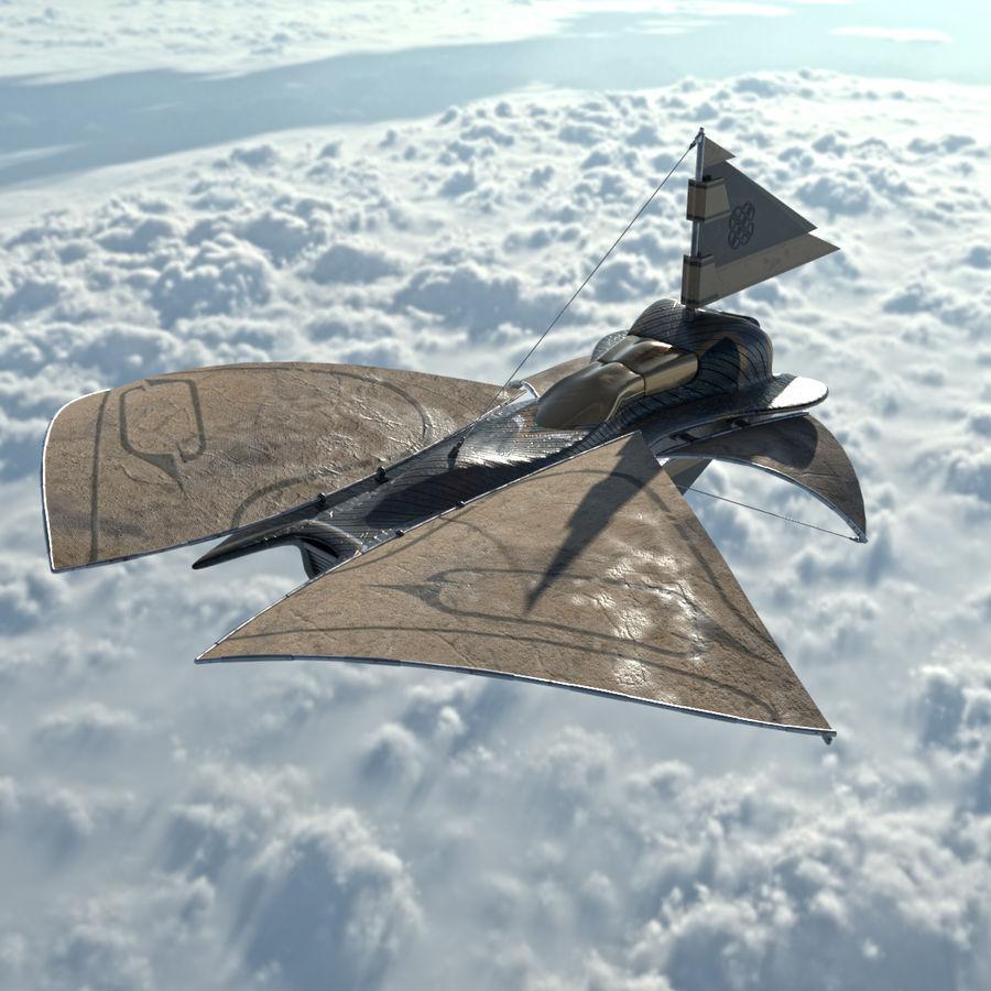 nave espacial de ciencia ficción royalty-free modelo 3d - Preview no. 5