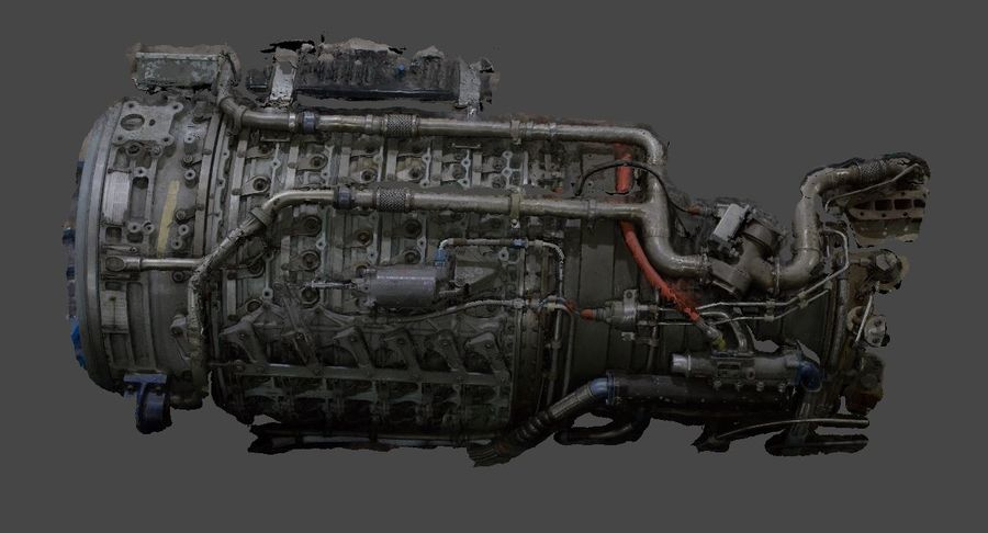 Aircraft Engine Parts royalty-free 3d model - Preview no. 1