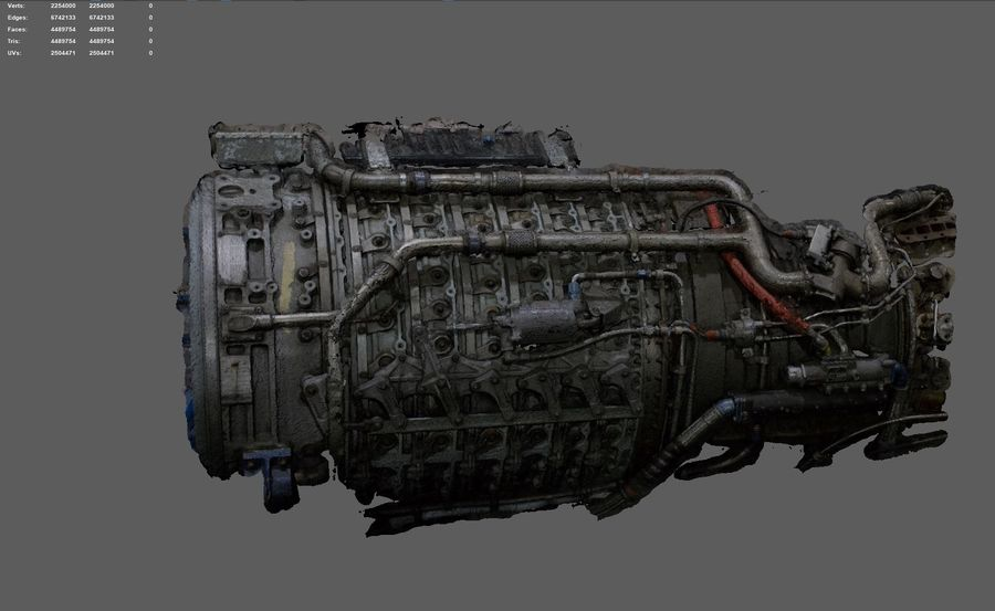 Aircraft Engine Parts royalty-free 3d model - Preview no. 2