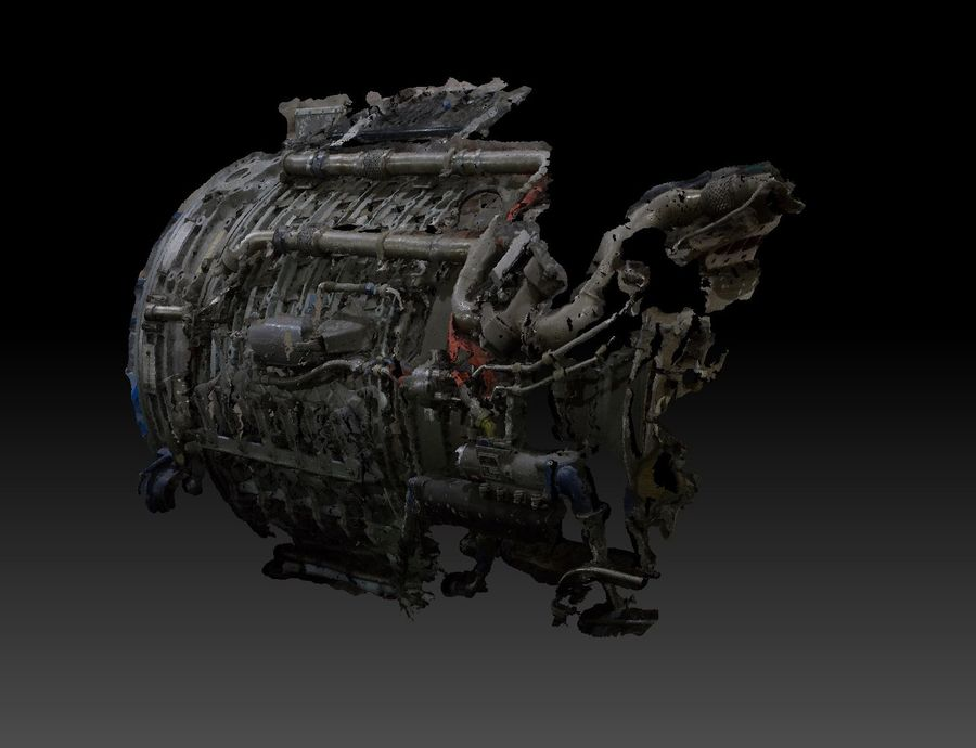 Aircraft Engine Parts royalty-free 3d model - Preview no. 6