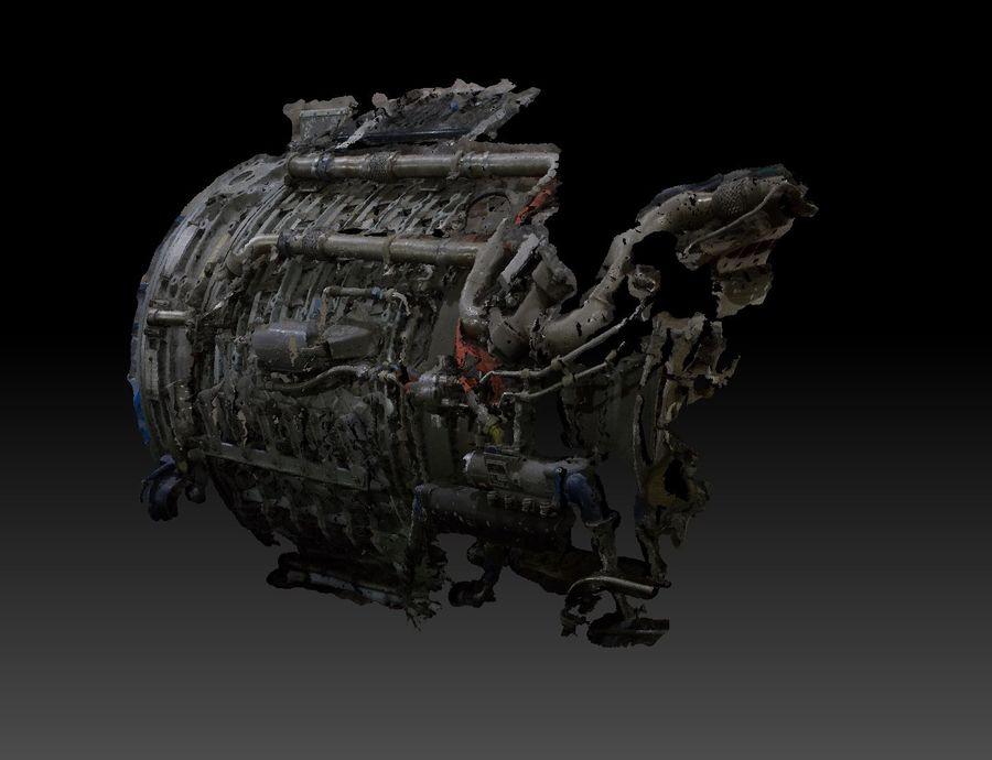 航空機エンジン部品 royalty-free 3d model - Preview no. 6