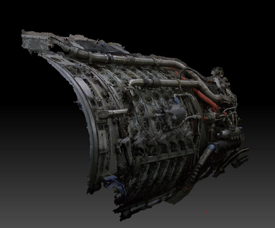 Aircraft Engine Parts royalty-free 3d model - Preview no. 5
