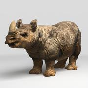 Nosorożec (niski poli) 3d model