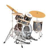 Барабанная установка 3d model