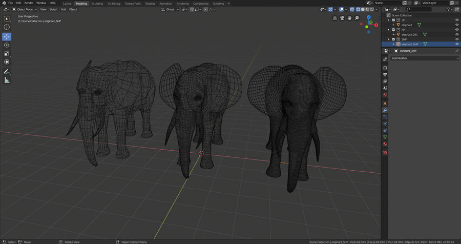 Elephant royalty-free 3d model - Preview no. 9