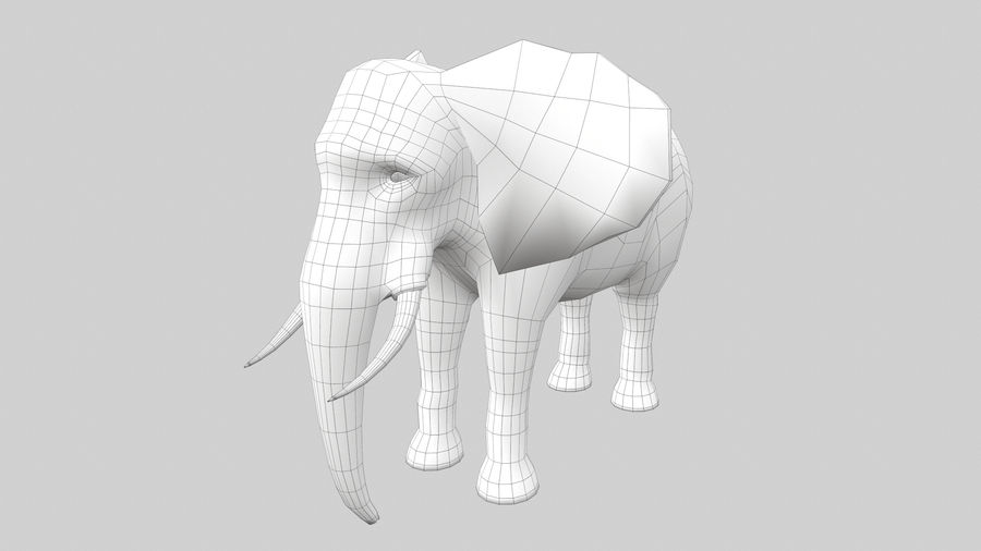 Elephant royalty-free 3d model - Preview no. 10