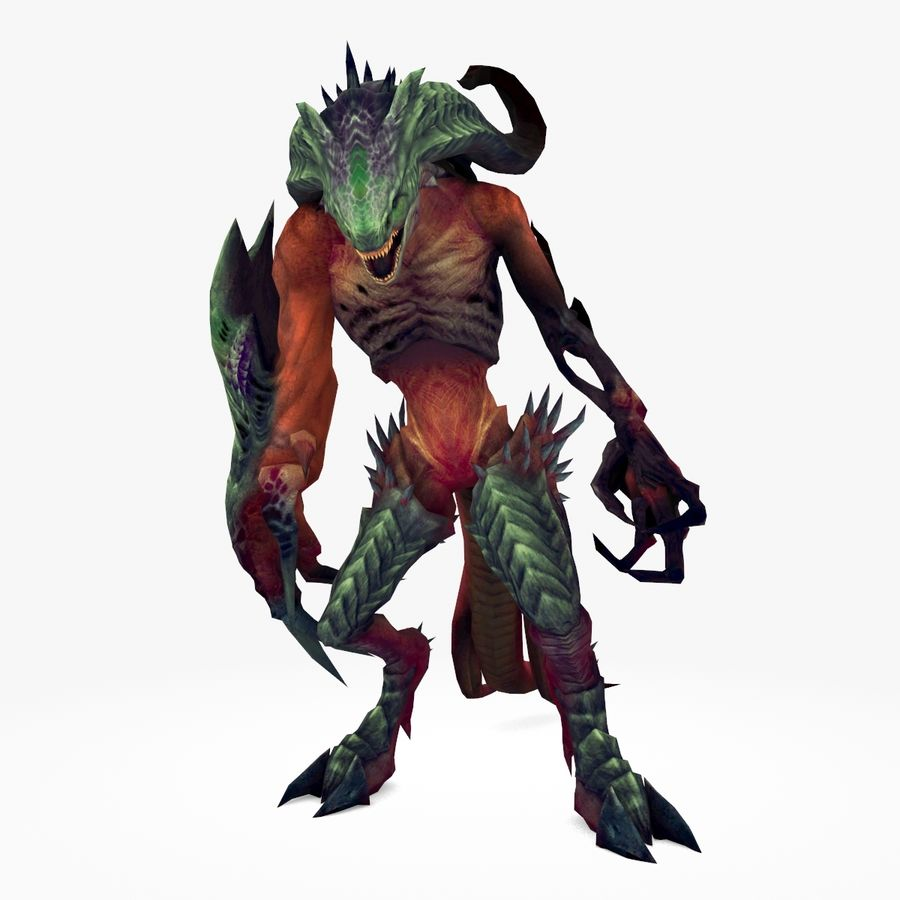 Monster type A royalty-free 3d model - Preview no. 1