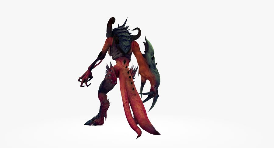 Monster type A royalty-free 3d model - Preview no. 5