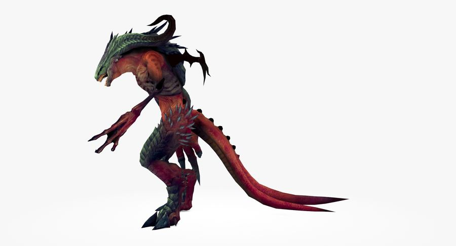 Monster type A royalty-free 3d model - Preview no. 6
