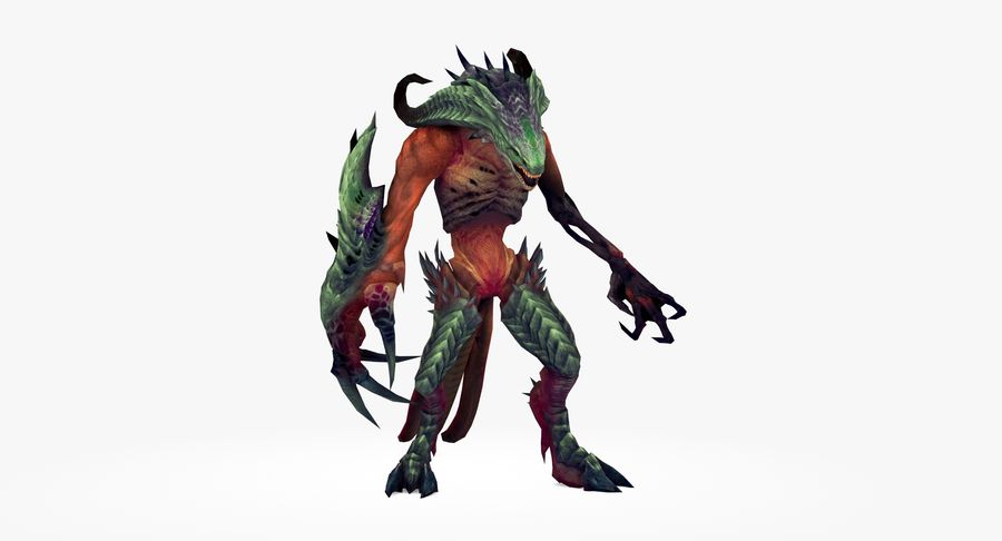Monster type A royalty-free 3d model - Preview no. 3