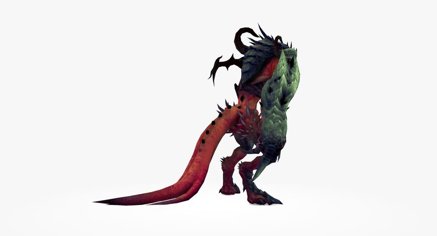 Monster type A royalty-free 3d model - Preview no. 4