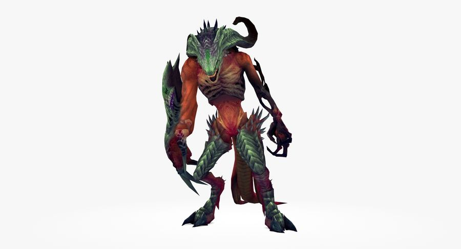 Monster type A royalty-free 3d model - Preview no. 2