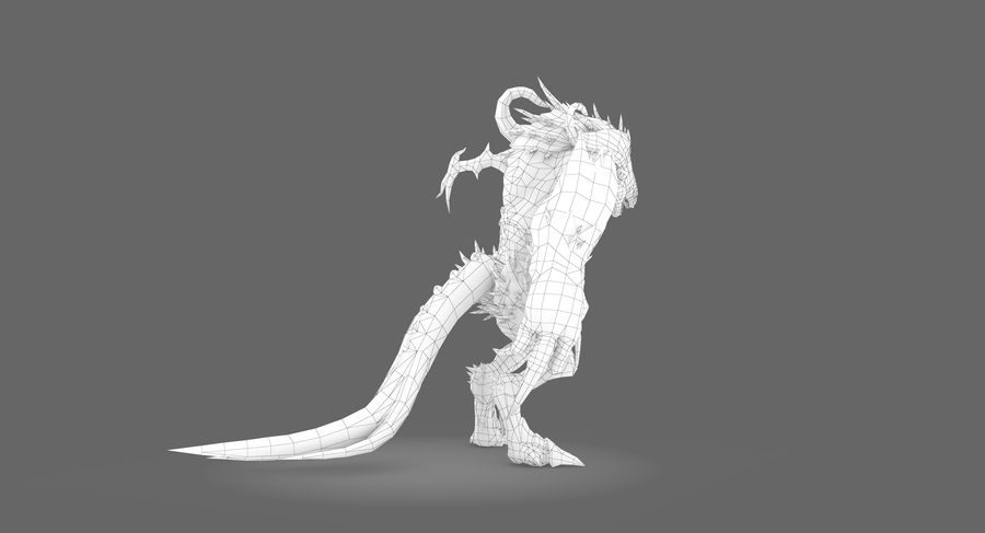 Monster type B royalty-free 3d model - Preview no. 9