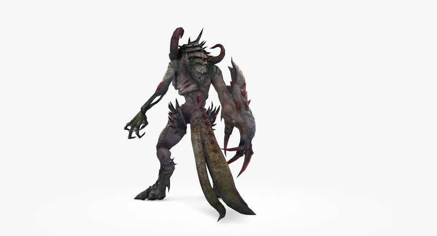 Monster type B royalty-free 3d model - Preview no. 5