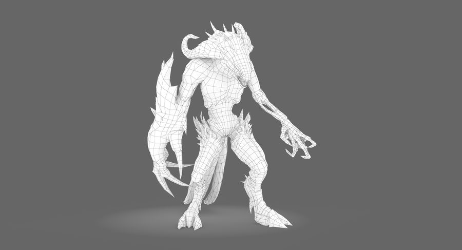 Monster type B royalty-free 3d model - Preview no. 8
