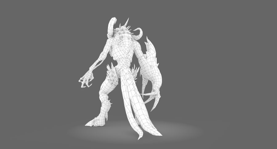 Monster type B royalty-free 3d model - Preview no. 10