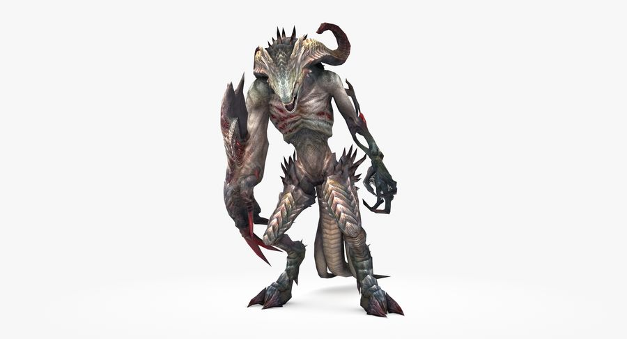 Monster type B royalty-free 3d model - Preview no. 2