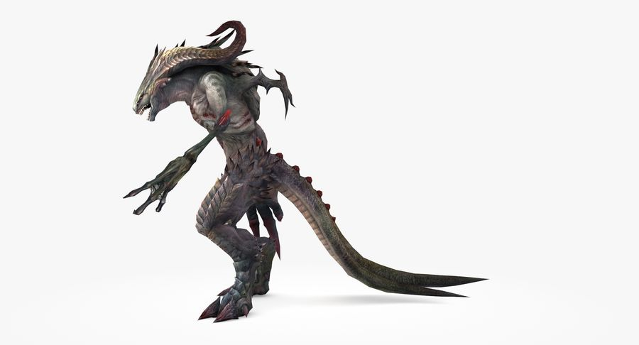 Monster type B royalty-free 3d model - Preview no. 6