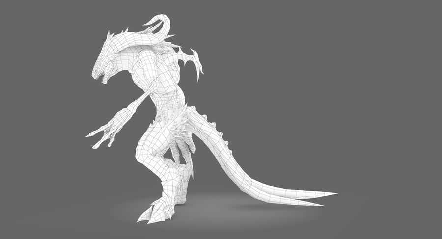 Monster type B royalty-free 3d model - Preview no. 11