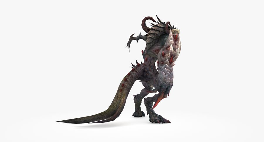 Monster type B royalty-free 3d model - Preview no. 4