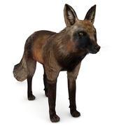黑红狐狸 3d model