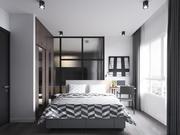 cozinha interior +2 quartos - 3 + cena Corona 3d model