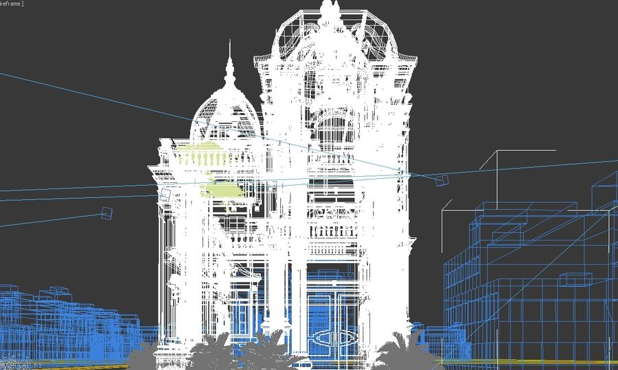 Architecture Building Classic royalty-free 3d model - Preview no. 9