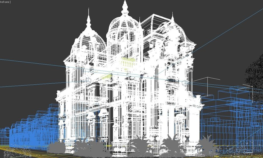 Architecture Building Classic royalty-free 3d model - Preview no. 10
