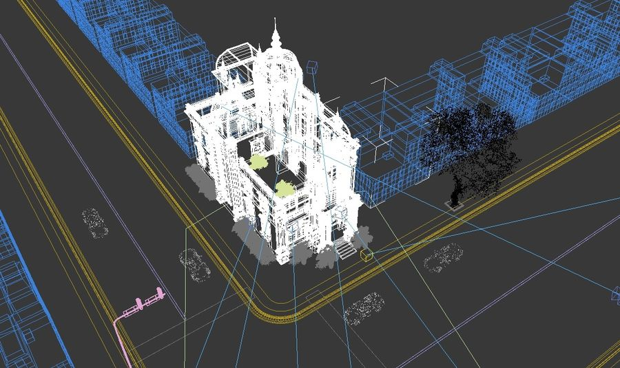 Architecture Building Classic royalty-free 3d model - Preview no. 11