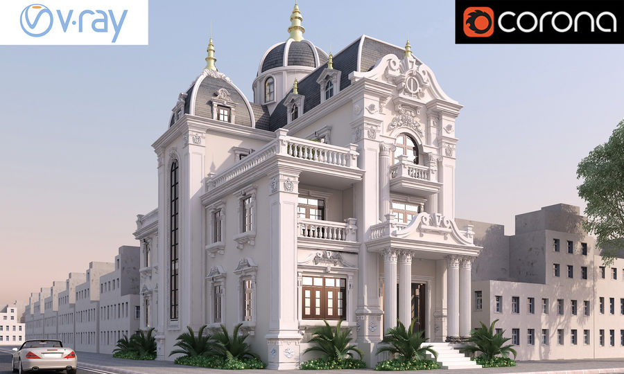Architecture Building Classic royalty-free 3d model - Preview no. 2
