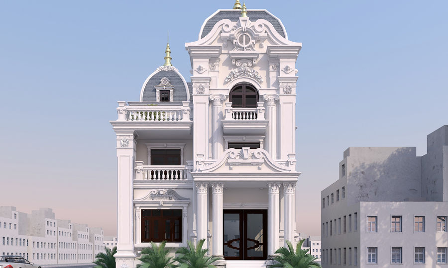 Architecture Building Classic royalty-free 3d model - Preview no. 4