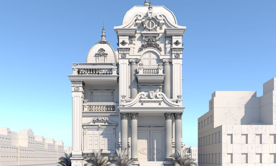 Architecture Building Classic royalty-free 3d model - Preview no. 8