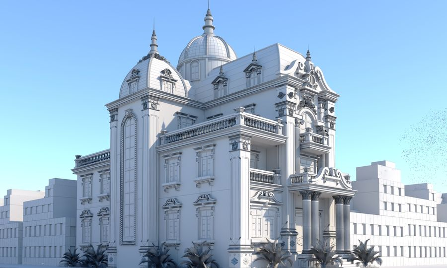 Architecture Building Classic royalty-free 3d model - Preview no. 7