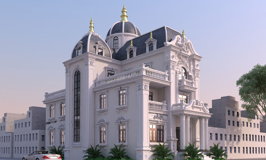 Architecture Building Classic royalty-free 3d model - Preview no. 3