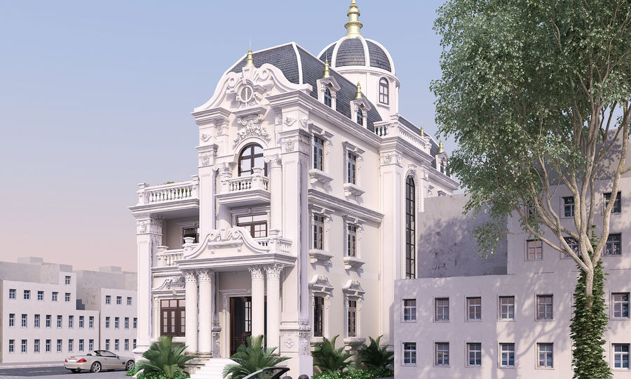 Architecture Building Classic royalty-free 3d model - Preview no. 1