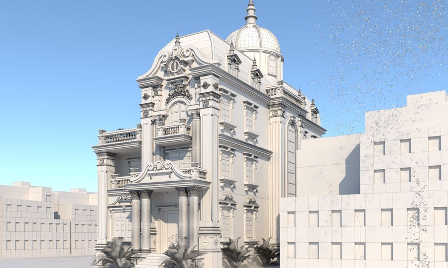 Architecture Building Classic royalty-free 3d model - Preview no. 6
