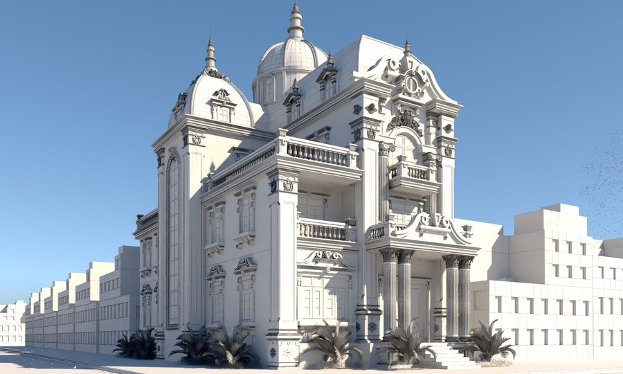 Architecture Building Classic royalty-free 3d model - Preview no. 5