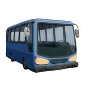 Мультфильм автобус 3d model