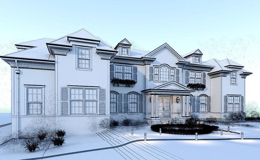 Exterior Villa Scene 3D model royalty-free 3d model - Preview no. 8