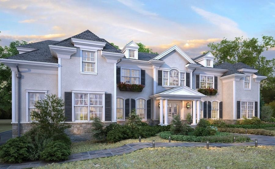 Exterior Villa Scene 3D model royalty-free 3d model - Preview no. 2