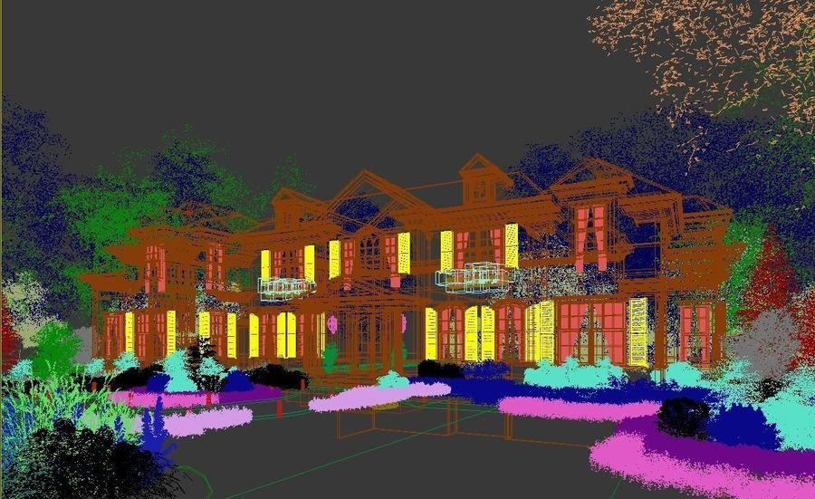 Exterior Villa Scene 3D model royalty-free 3d model - Preview no. 15