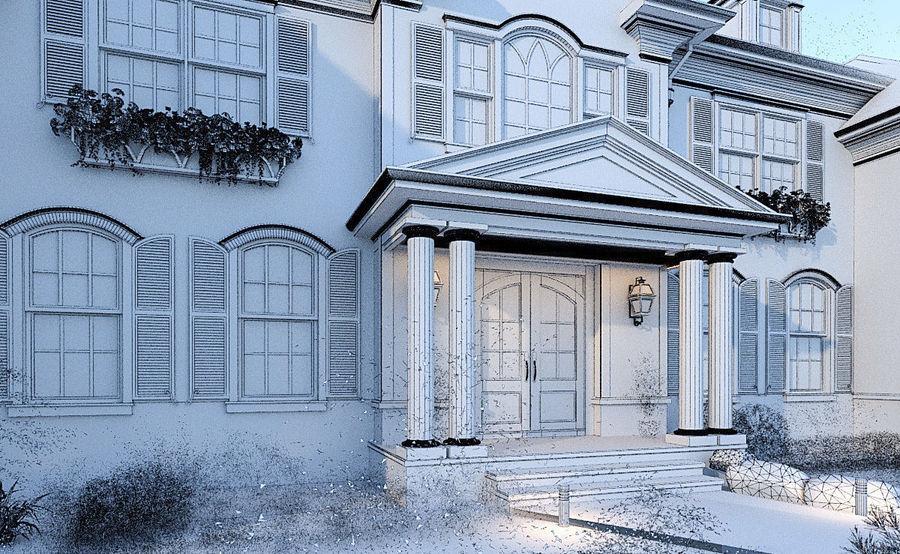 Exterior Villa Scene 3D model royalty-free 3d model - Preview no. 12