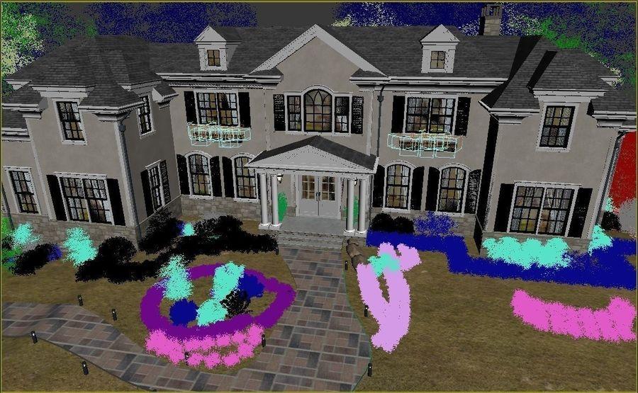 Exterior Villa Scene 3D model royalty-free 3d model - Preview no. 14
