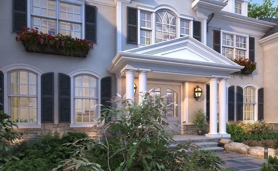 Exterior Villa Scene 3D model royalty-free 3d model - Preview no. 3