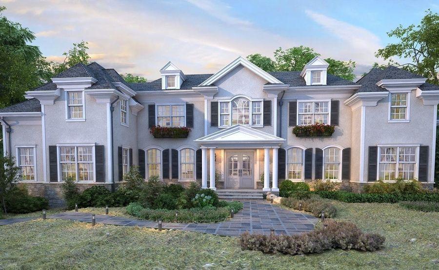 Exterior Villa Scene 3D model royalty-free 3d model - Preview no. 4