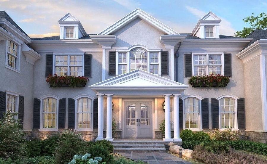 Exterior Villa Scene 3D model royalty-free 3d model - Preview no. 6
