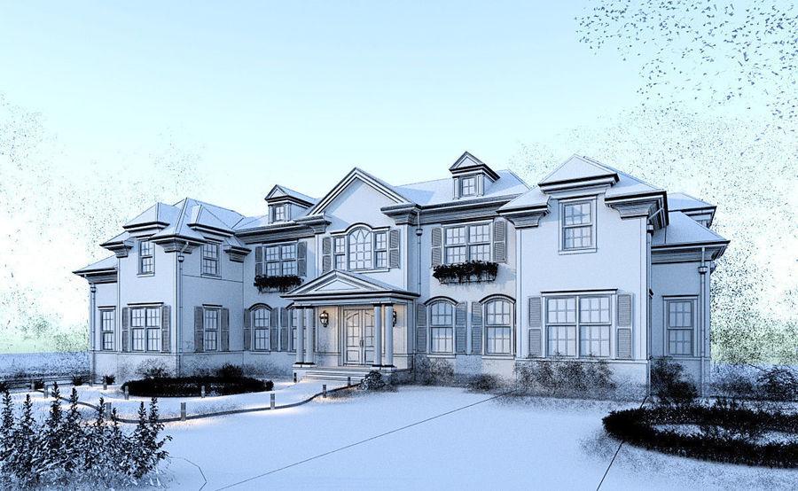 Exterior Villa Scene 3D model royalty-free 3d model - Preview no. 7