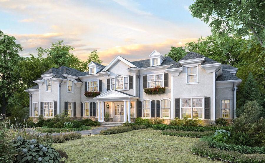 Exterior Villa Scene 3D model royalty-free 3d model - Preview no. 1