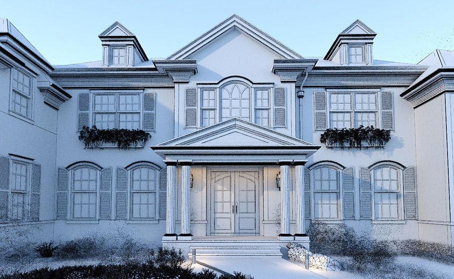 Exterior Villa Scene 3D model royalty-free 3d model - Preview no. 11