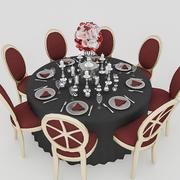 Tavolo da matrimonio nero 3d model